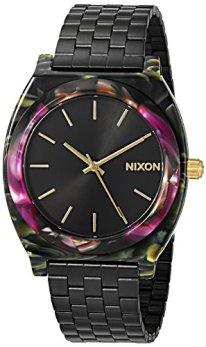Nixon Women's 'Time Teller Acetate' Quartz Plastic and Stainless Steel Watch, Color:Black (Model: A3272482-00)