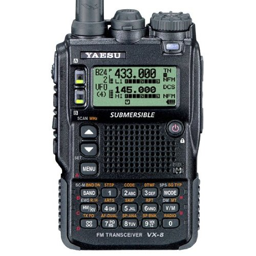 Triple Band 50-144-430 Yaesu VX-8DR B3 Unblocked Version Submersible VHF/UHF Amateur Radio Transceiver