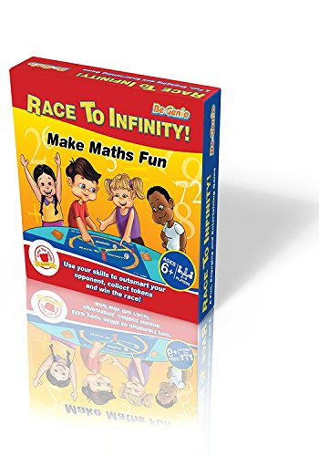 Race To Infinity - Math Board Game For Ages 6+ By BeGenio –2-4 Players - Fun & Educational Family Game – Teach Your Child The Times Table & Practice Addition, Subtraction, Multiplication & Division