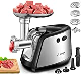 Electric Meat Grinder, Aobosi 3-IN-1 Meat Mincer & Sausage Stuffer,?1200W Max?Sausage & Kubbe Kits Included, 3 Grinding Plates,Stainless Steel | Home Kitchen & Commercial Use