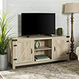 Product review for Barn Door TV Stand in White Oak
