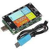 MakerHawk USB Meter Tester USB Multimeter Voltage Tester Digital Current Meter Resistor Detector 2.6' IPS TFT Color Display Current Capacity Charger Energy Load Measurement PD QC 2.0/3.0