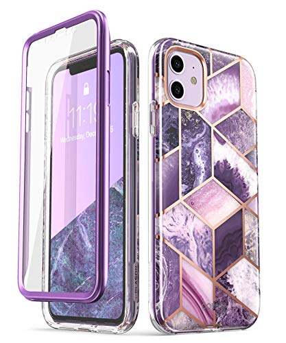 i-Blason Cosmo Series Case for iPhone 11 (2019 Release), Slim Full-Body Stylish Protective Case with Built-in Screen Protector, Ameth, 6.1''