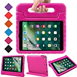 BMOUO Case for New iPad 9.7 Inch 2018/2017 - Shockproof Case Light Weight Kids Case Cover Handle Stand Case for iPad 9.7 Inch 2017/2018 (iPad 5th and 6th Generation) Latest Model - Rose