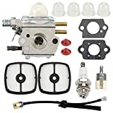 Hayskill C1U-K51 C1U-K45 Carburetor with Air Filter Primer Bulb Spark Plug Fuel Line Kit for Zama C1U-K51 C1U-K45 Echo HC-1500 HC-1600 HC-1800 HC-2000 HC-2400 HC-2410 Carb