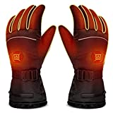 LUWATT Heated Gloves 8H Working Hours 3500mAh Rechargeable Battery Three Temperature Settings Electric Heat Resistant Gloves for Men Women for Sports Outdoor Climbing Hiking Skiing Winter Handwarmer
