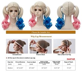 Dastar-Adjustable-Pink-and-Blue-Ponytail-Wig-for-Halloween-Party-Costume
