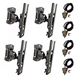 Cuddeback Genius Pan Tilt Lock Mount/Universal Trail Camera Adapter and Master Lock Security Cable, 4-Pack