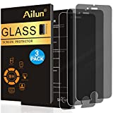 Ailun Privacy Screen Protector Compatible with iPhone 8/7/6/6s[3Pack],Anti-Spy,Anti-Glare,2.5D Edge Tempered Glass Compatible with iPhone 8 7 6 6s,Anti-Scratch,Case Friendly,Siania Retail Package