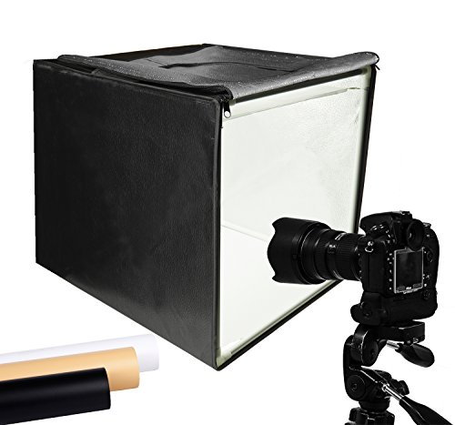 Finnhomy Professional Portable Photo Studio Photo Light Studio Photo Tent Light Box Table Top Photography Shooting Tent Box Lighting Kit, 16' x 16' Cube