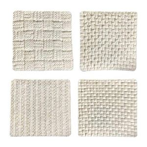 Fondant Impression Mat 4pcs/Set, Sweater Texture Design Silicone Cake Decorating Supplies for Cupcake Wedding Cake Decoration 51oi4H3 8oL