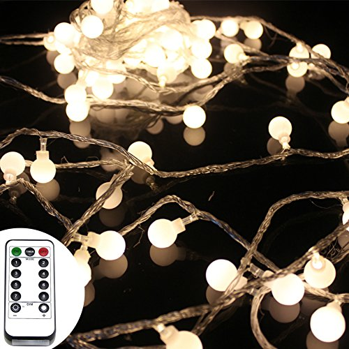 50 leds 16 feet globe led string lights with remote control timer battery operated