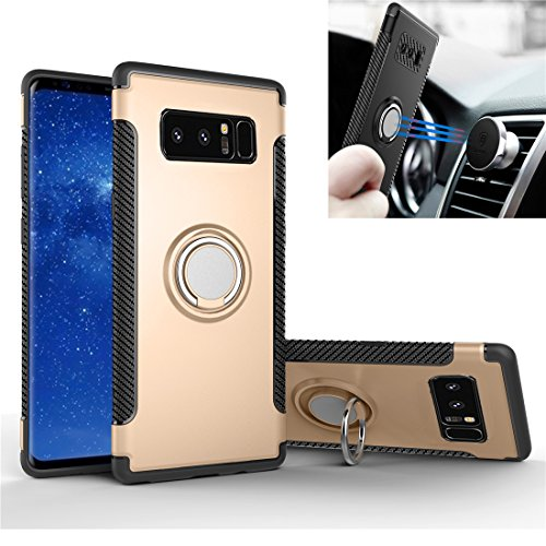 Galaxy Note 8 Case, Rexang [with 360 ° Kickstand] Rotating Ring Case [Dual Shockproof] Protection Cover Compatible with [Magnetic Car Mount] for Samsung Note 8
