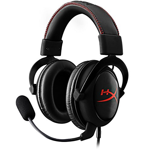 HyperX Cloud Core Gaming Headset - Durable Aluminum Frame - 53MM Drivers - Detachable Microphone - Works with PC/PS4 & Xbox One, Nintendo Switch (KHX-HSCC-BK)