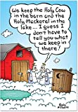 12 'Holy Shit' Christmas Cards with Envelopes 4.63 x 6.75 inch, Outhouse in Heaven Merry Christmas Cards, A Hilarious Poopy Happy Holidays, Funny Crappy Season's Greetings Cards B1893