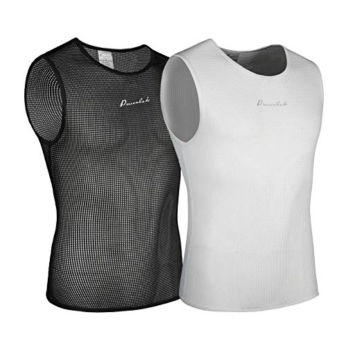 Przewalski Men's Sleeveless Cycling Undershirt Quick Dry Bike Base Layer Vests Breathable Tops Bicycle Clothing