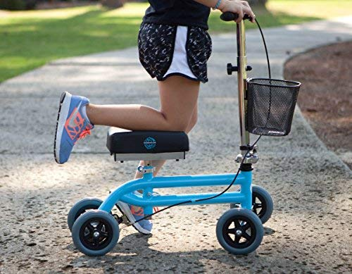 Kids Knee Walker Child Knee Scooter Pediatric Crutches Alternative in Light Blue