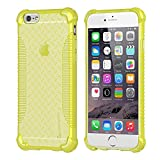 iPhone 6s Case, LUVVITT [Clear Grip] Soft Slim Flexible TPU Back Cover Transparent Rubber Case for Apple iPhone 6 / iPhone 6s (4.7 inch) - Neon Yellow