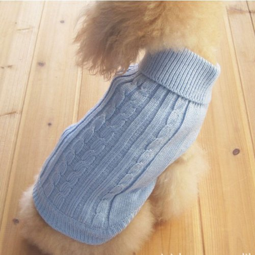 Tangpan Turtleneck Classic Straw-Rope Pet Dog Sweater Apparel 1