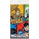 """Unique Justice League Plastic Tablecloth, 84"""" x 54"""""""