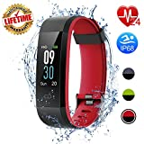 I-SWIM Fitness Tracker, Activity Tracker Watch with Heart Rate Monitor, Sleep Monitor,Calorie Counter, IP68 Waterproof Smart Fitness Band with Step Counter, Pedometer Watch for Kids Women and Men