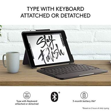 Logitech-Slim-Combo-Case-with-Detachable-Backlit-Bluetooth-Keyboard-for-iPad-5th-6th-Generation-Black