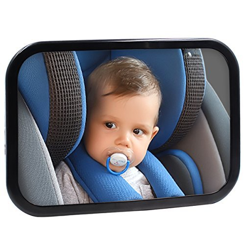 Coindivi Safe Baby Car Mirror for Rear View Facing Back Seat for Infant Child,Fully Assembled and Adjustable,Backseat Shatterproof Mirror with Perfect Reflection