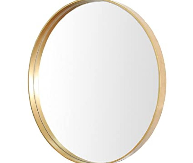 Mirror Hanging On The Wall Large Wooden Round Mirror Bathroom Wall Mirror Simple Dressing Table