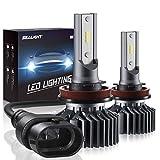 H11/H8/H9 LED Headlight Bulbs Conversion Kit, SEALIGHT S1 Series 12x CSP Chips Low Beam/Fog Light Bulb- 6000LM 6000K Xenon White