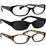 Reading Glasses 1.25 Black Tortoise Black Sun (3 Pack) 9502
