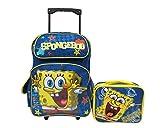 SpongeBob Squarepants Large 16' Rolling Backpack Roller Schoo Bag & Lunch Box