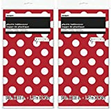 Polka Dot Plastic Tablecloth, 108' x 54', Red (Red 2-PACK))