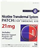 Nicotine Transdermal System Patch, Stop Smoking Aid, 21 mg, Step 1, 14 patches