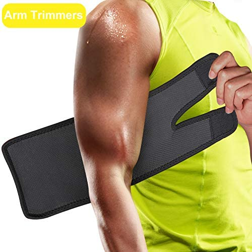 FEOAMO 4 Pack Arm and Thigh Trimmers Sauna Sweat Bands Wraps Arm Trimmers Sleeves Leg for Women Weight Loss, Improve Sweating & Circulation 3