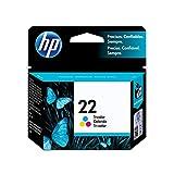 HP 22 Tri-color Ink Cartridge (C9352AN) for HP Deskjet D1311 D1320 D1330 D1341 D1420 D1430 D1445 D1520 D1530 D2330 D2460 F340 HP Officejet 4315 5610 J3680 HP PSC 1410 HP 3180