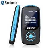 RUIZU X06 Mp3 Player with Bluetooth, Mp3 Music Player with FM Radio, 100hrs Playback, and 128GB Expandable, Blue