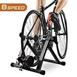 HEALTH LINE PRODUCT Indoor Bike Trainer, Magnetic 26-29' Bicycle Exercise Trainer Quiet Noise Reduction Stationary Cycling Stand