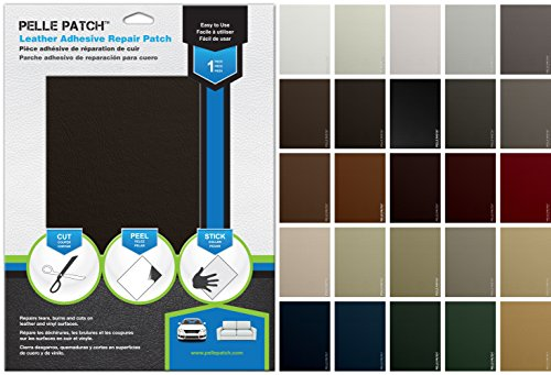 Leather & Vinyl Adhesive Repair Patch (Brown Dark)