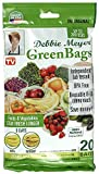 Debbie Meyer GreenBags - Reusable BPA Free Food Storage Bags, Keep Fruits and Vegetables Fresher Longer in these GreenBags! 20pc Set (8M, 8L, 4XL)