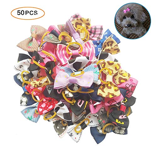 Tangser Dog Hair Bows for Dogs, Premium Hair Accessories, Hair Clips for Yorkie, Teddy 1
