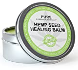 Best Organic Hemp Seed Oil Cold Pressed Healing Cream, New & Improved Formula for Eczema, Psoriasis, Pain, Rash, Jock Itch Relief, Organic Aloe Vera, Coconut, Tamanu, Lavender, Tea Tree Oils 4 oz
