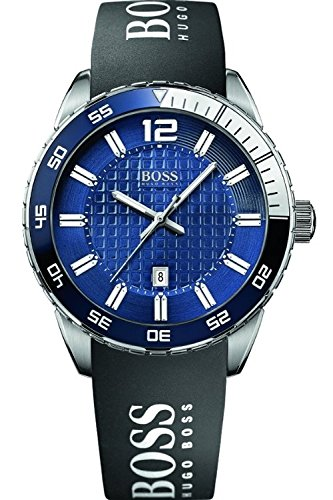 51p45s9tbTL Blue dial features luminous indices and hands Minute markers around inner edge Date window above 6 o'clock position