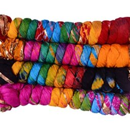 jyoti Women's Silk Dupatta(sc-170_Multicolour_2.25m) – Pack of 4