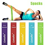Letsfit Resistance Loop Bands, Resistance Exercise Bands for Home Fitness, Crossfit, Stretching, Strength Training, Physical Therapy, Natural Latex Workout Bands, Pilates Flexbands, 12' x 2'