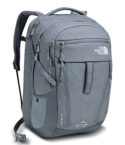 The North Face Women's Surge Backpack Folkstone Gray/TNF White One Size