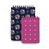 Vera Bradley Spiral Jotter Notepad Set with 1 Large Notepad and 1 Small Notepad, Kaleidoscope