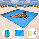 "Mumu Sugar HONGVI Sand Free Beach Blanket, Quick Drying Ripstop Nylon Compact Outdoor Beach Mat Best Sand Proof Beach Mat for Travel, Camping, Hiking and Music Festivals(82"" X79"")"