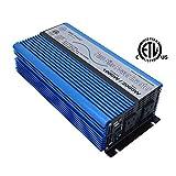 AIMS Power 1000 Watt Pure Sine Inverter 12 VDC to 120 VAC ETL Listed