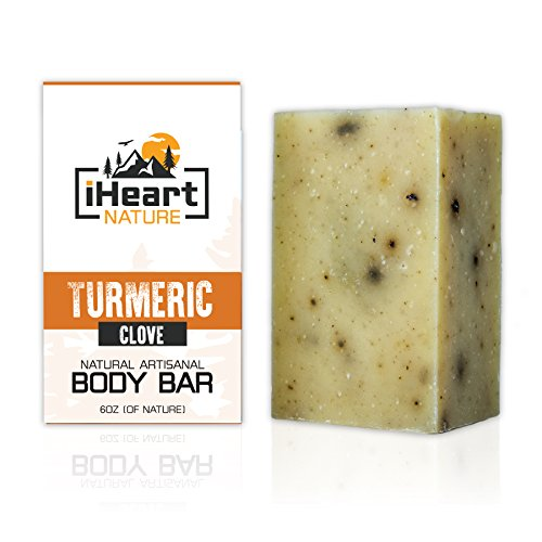 Turmeric Soap Bar (Large 6 Ounce) Made in USA (Beautiful Glowing Skin Brightening Lightening Whitening) Ayurvedic Organic Vegan Artisanal Natural Handmade Aromatherapy Soap