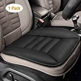 Tsumbay Car Seat Cushion Pad for Car Driver Seat Office Chair Home Use Pain Relief Memory Foam Seat Cushion Comfort Seat Protector with Non Slip Bottom, Black